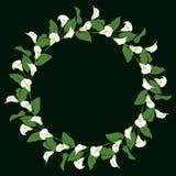 Στεφάνι κρίνων της Calla διανυσματική απεικόνιση