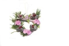 στεφάνι μορφής καρδιών Στοκ εικόνα με δικαίωμα ελεύθερης χρήσης