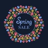Στεφάνι λουλουδιών Πώληση άνοιξη Σχέδιο για την ημέρα γυναικών ` s 8 Μαρτίου Ελεύθερη απεικόνιση δικαιώματος