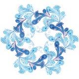 Στεφάνι των σχεδίων παγετού επίσης corel σύρετε το διάνυσμα απεικόνισης Στοκ Φωτογραφίες
