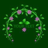 Στεφάνι των φύλλων και των λουλουδιών Στοκ Φωτογραφία