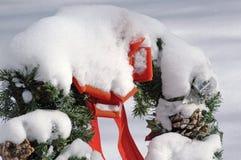 στεφάνι χιονιού Χριστου&gamm Στοκ φωτογραφία με δικαίωμα ελεύθερης χρήσης