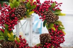 Στεφάνι Χριστουγέννων διακοπών Στοκ φωτογραφία με δικαίωμα ελεύθερης χρήσης