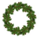 Στεφάνι Χριστουγέννων διακοπών Απεικόνιση αποθεμάτων