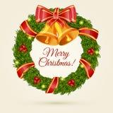 Στεφάνι Χριστουγέννων. Διανυσματική απεικόνιση. Στοκ φωτογραφίες με δικαίωμα ελεύθερης χρήσης