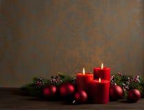 Στεφάνι Χριστουγέννων εμφάνισης Στοκ Εικόνες