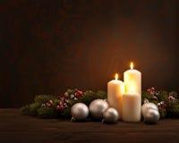 Στεφάνι Χριστουγέννων εμφάνισης Στοκ Φωτογραφίες