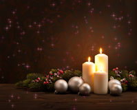 Στεφάνι Χριστουγέννων εμφάνισης Στοκ εικόνες με δικαίωμα ελεύθερης χρήσης