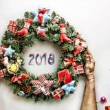 Στεφάνι Χριστουγέννων νέο έτος Διακοπές Χριστουγέννων Στοκ φωτογραφία με δικαίωμα ελεύθερης χρήσης