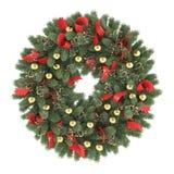 Στεφάνι Χριστουγέννων που απομονώνεται Στοκ Εικόνες
