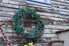 Στεφάνι Χριστουγέννων υπαίθρια Στοκ Φωτογραφία