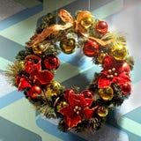 Στεφάνι Χριστουγέννων Στοκ φωτογραφίες με δικαίωμα ελεύθερης χρήσης