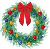 στεφάνι Χριστουγέννων απεικόνιση αποθεμάτων