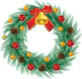 στεφάνι Χριστουγέννων Στοκ Εικόνα