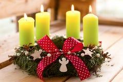 Στεφάνι 4 Χριστουγέννων Στοκ φωτογραφία με δικαίωμα ελεύθερης χρήσης