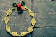 Στεφάνι Χριστουγέννων Diy, διακοπές Χριστουγέννων Στοκ Εικόνες