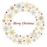 Στεφάνι Χριστουγέννων snowflakes Στοκ Εικόνα
