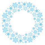 Στεφάνι snowflakes Στοκ Φωτογραφία