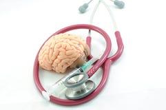 στηθοσκόπιο εγκεφάλο&upsilo στοκ φωτογραφία με δικαίωμα ελεύθερης χρήσης