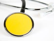 στηθοσκόπιο κίτρινο στοκ φωτογραφία με δικαίωμα ελεύθερης χρήσης