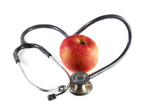 στηθοσκόπιο μήλων Στοκ εικόνα με δικαίωμα ελεύθερης χρήσης