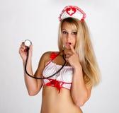 στηθοσκόπιο νοσοκόμων Στοκ Εικόνα