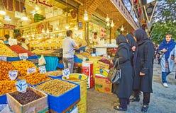 Στην αγορά της Τεχεράνης Στοκ Εικόνες
