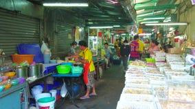 Στην αγορά φυλακτών, Μπανγκόκ, Ταϊλάνδη απόθεμα βίντεο