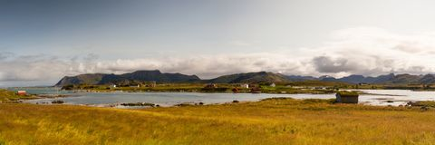 Στην ακτή σε Eggum, Νορβηγία στοκ φωτογραφία