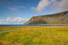 Στην ακτή σε Eggum, Νορβηγία στοκ εικόνες