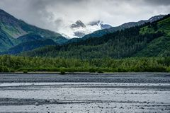 Στην Αλάσκα Ηνωμένες Πολιτείες της Αμερικής Στοκ Εικόνες