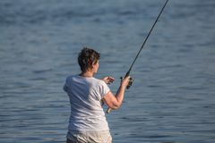 Στην αλιεία Στοκ εικόνα με δικαίωμα ελεύθερης χρήσης