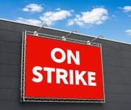 Στην απεργία στοκ φωτογραφία