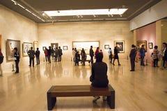 Στην Ασία, Κίνα, Πεκίνο, Μουσείο Τέχνης, το σχεδιάγραμμα αιθουσών έκθεσης, εσωτερικό σχέδιο Στοκ Εικόνα