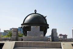 Στην Ασία, κινέζικα, Πεκίνο, αρχαίο παρατηρητήριο, παρατηρητήριο, τα αστρονομικά όργανα Στοκ Φωτογραφία
