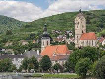 Στην αυστριακή κοιλάδα Δούναβη Στοκ φωτογραφίες με δικαίωμα ελεύθερης χρήσης