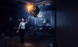 Στην αφή με ολόκληρο τον κόσμο Μικτά μέσα Στοκ φωτογραφίες με δικαίωμα ελεύθερης χρήσης