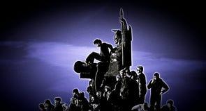Στην Ισλανδία πολλοί άνθρωποι στην πόλη Στοκ εικόνα με δικαίωμα ελεύθερης χρήσης