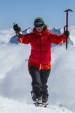 Στην κορυφή βουνών Στοκ εικόνες με δικαίωμα ελεύθερης χρήσης