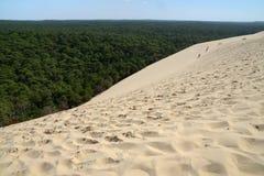 Στην κορυφή του αμμόλοφου Pilat στοκ φωτογραφίες