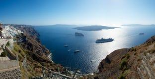 Caldera. Santorini. Στοκ Εικόνες