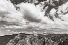 Στην κορυφή του εθνικού πάρκου βουνών Simien σε Eth Στοκ φωτογραφία με δικαίωμα ελεύθερης χρήσης