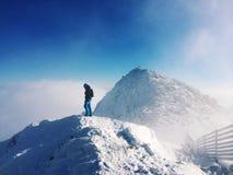 Στην κορυφή των βουνών Στοκ εικόνες με δικαίωμα ελεύθερης χρήσης