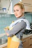 Στην κουζίνα Στοκ Φωτογραφίες