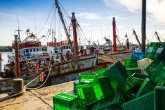 στην ξηρά αλιεία βαρκών Στοκ Φωτογραφία