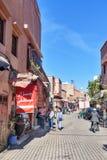 Στην οδό στο medina Μαρακές Μαρόκο Στοκ εικόνες με δικαίωμα ελεύθερης χρήσης