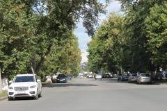 Στην οδό Michurina στην πόλη της Samara στοκ φωτογραφία