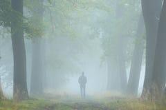 Στην ομίχλη Στοκ φωτογραφία με δικαίωμα ελεύθερης χρήσης