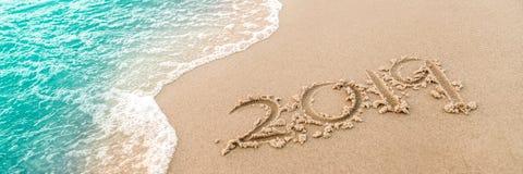 2019 στην παραλία στοκ εικόνες με δικαίωμα ελεύθερης χρήσης