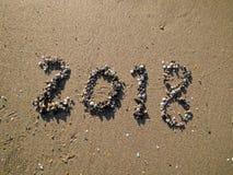 2018 στην παραλία στοκ εικόνες